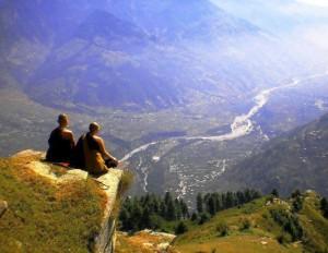 monaci con panorama