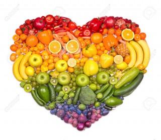 Frutta e verdura cuore